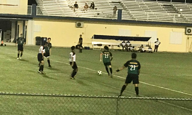 The UOG Tritons took on the Omega Warriors in men's soccer Nov. 1 at the GFA National Training Center in the GFA Budweiser Amateur League.