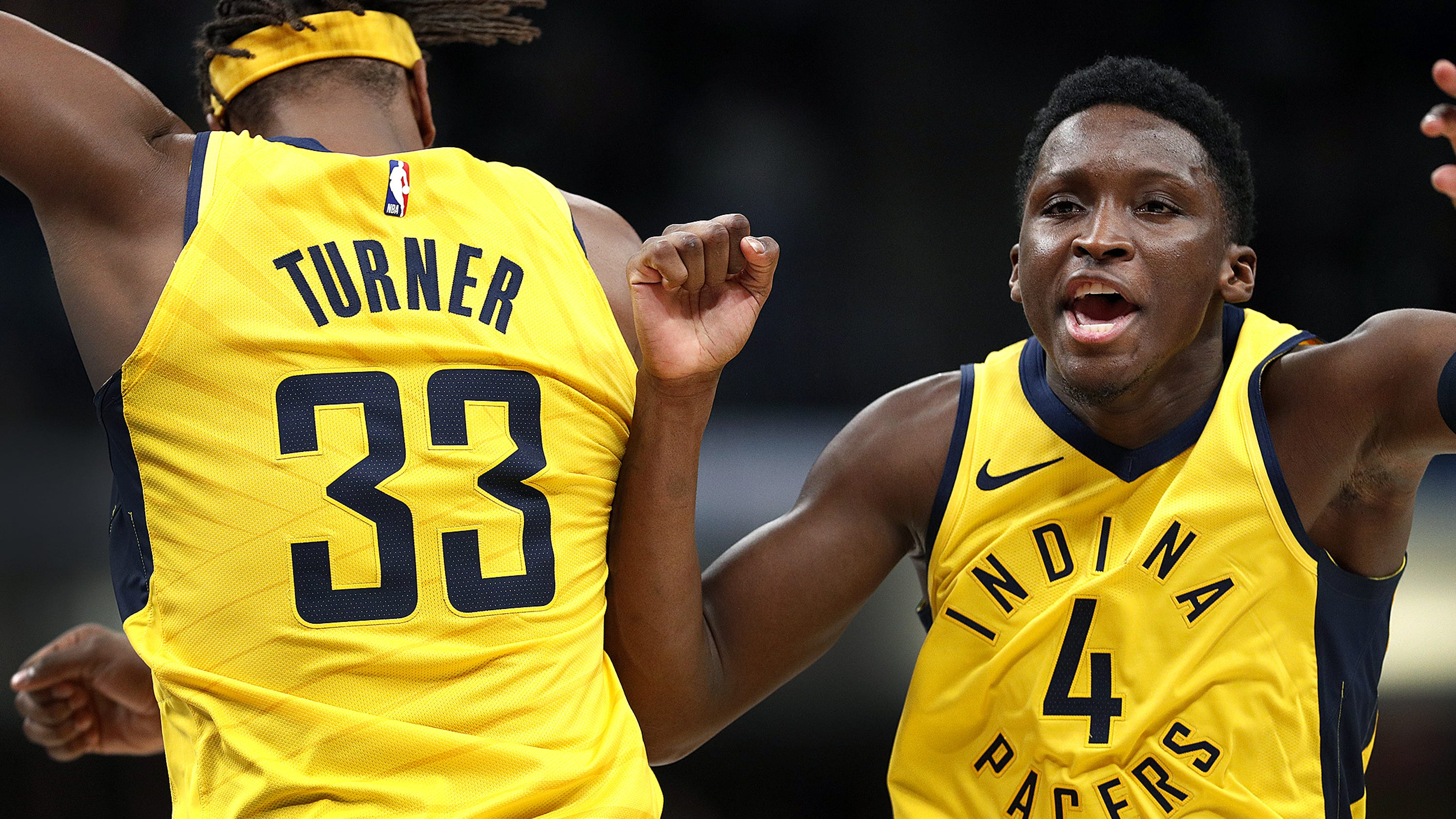 new arrival de584 b107c Victor Oladipo offers defense of Myles Turner after tough night
