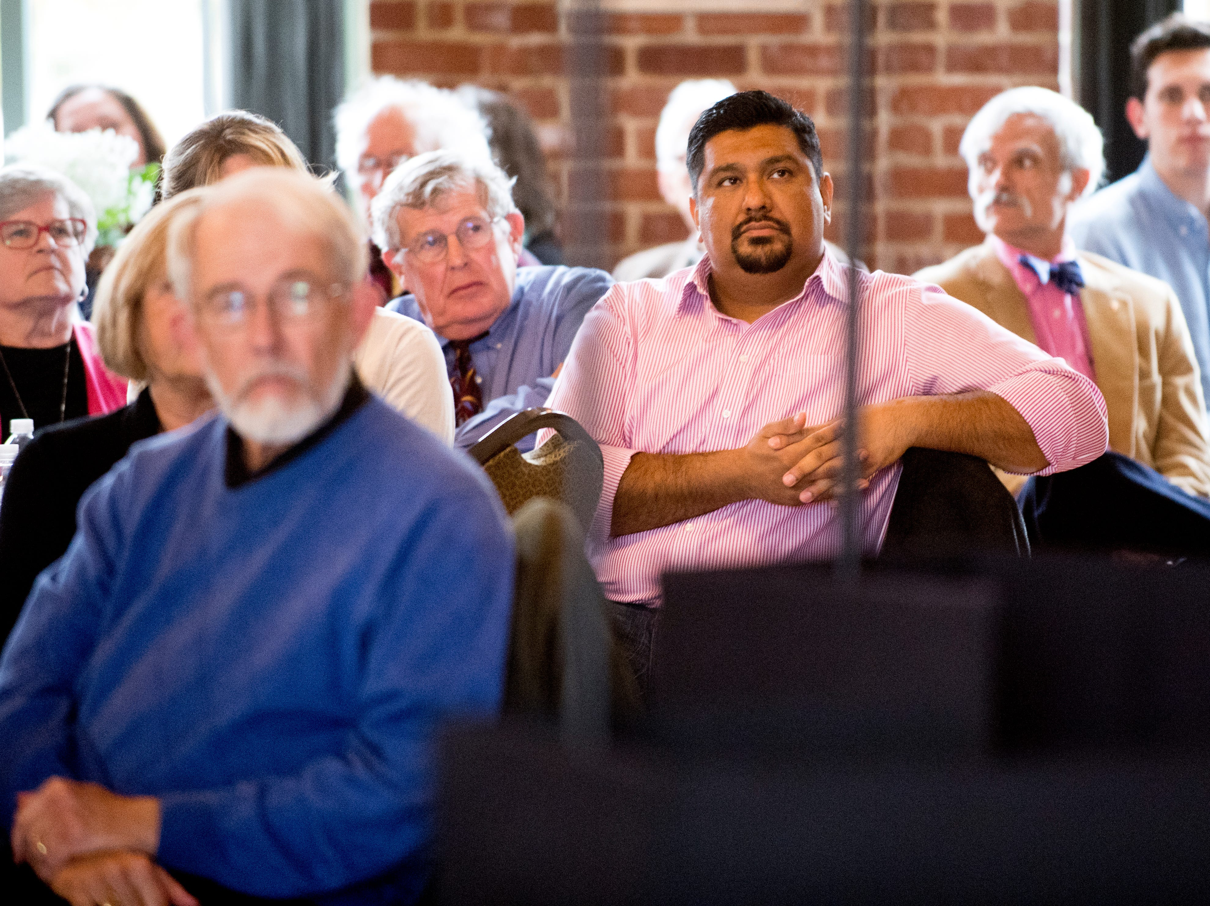"""Attendees listen as former Governor Phil Bredesen speaks during an """"Doing Better Together"""" Interfaith Lunch at the Bessie Smith Cultural Center in Chattanooga, Tennessee on Sunday, November 4, 2018. Former Governor Phil Bredesen, candidate for U.S. Senate, hosted the event to discuss the future of Tennessee and America."""