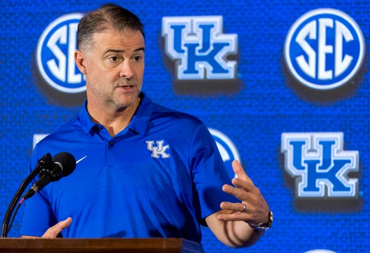 UK coach Matthew Mitchell speaks at October's 2018 SEC media day.