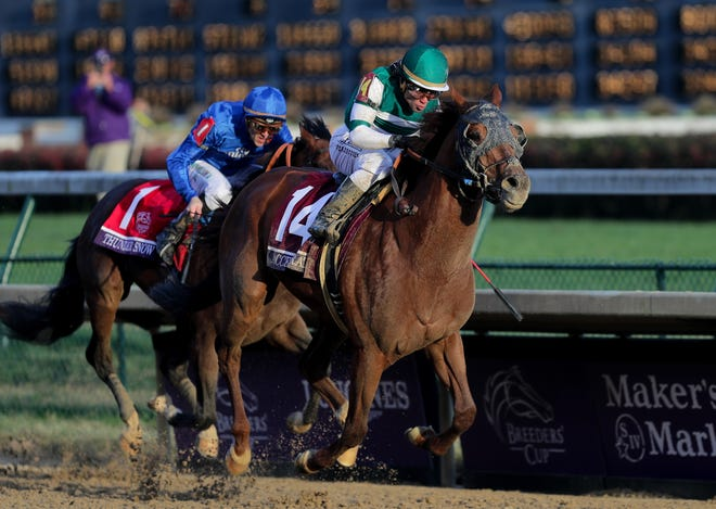 Joel Rosario goes on to win the Breeders' Cup Classic on Accelerate. Nov. 3, 2018