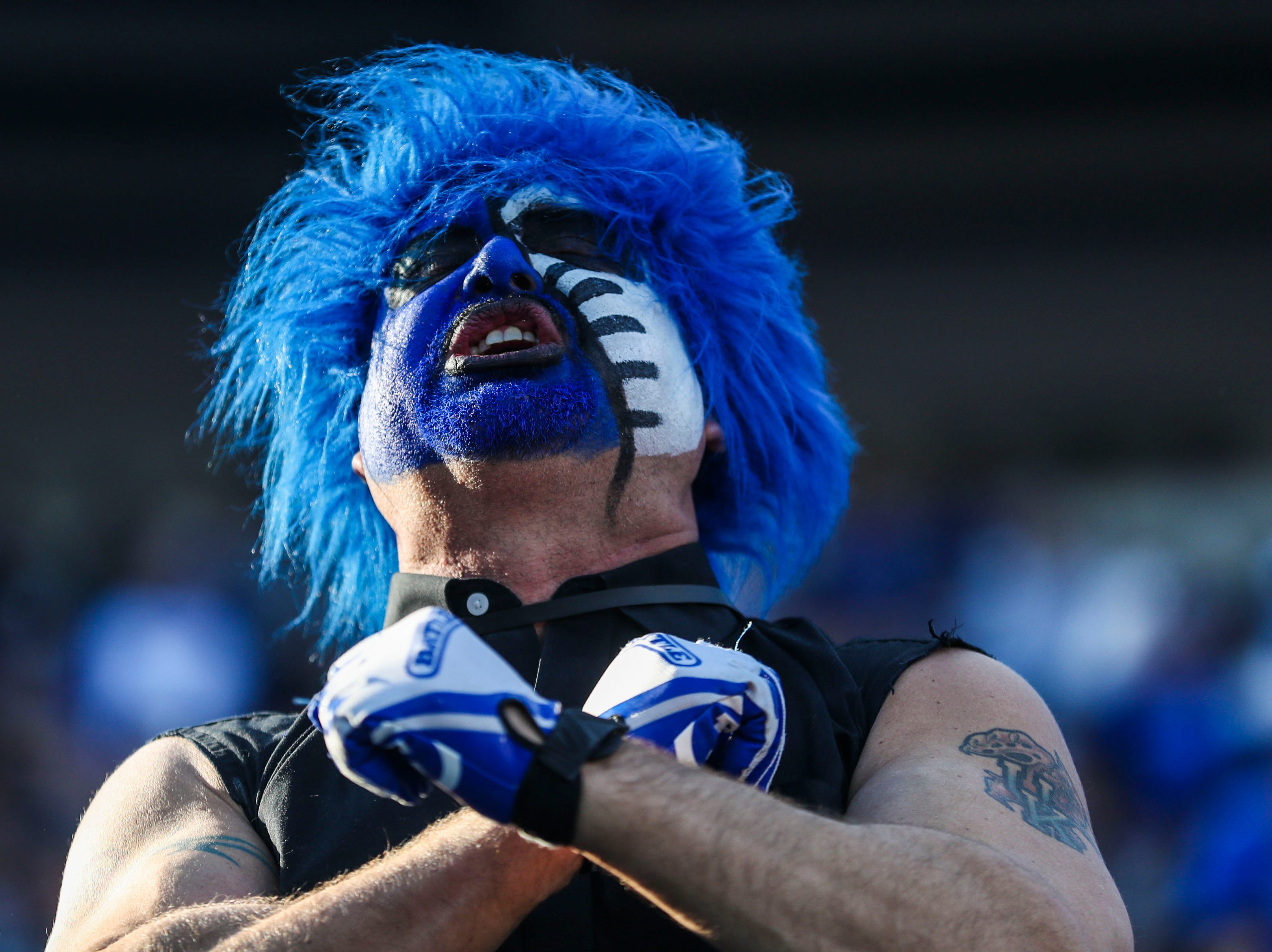 A Kentucky fan reacted during the Kentucky game against Georgia Saturday. Nov. 3, 2018
