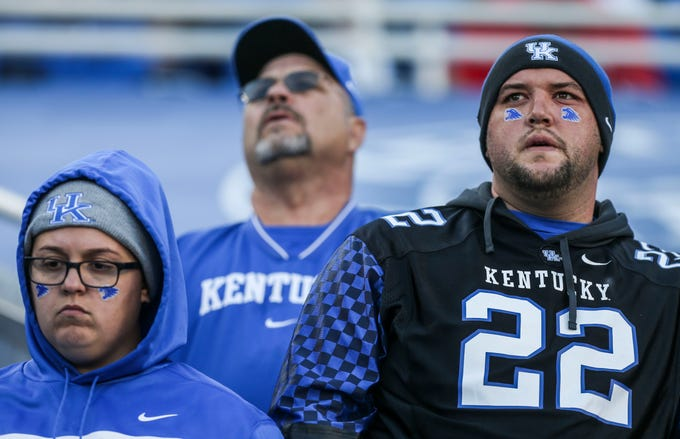 UK fans' emotions were on display as the Wildcats trailed throughout the game against Georgia Saturday. In one of the best seasons for Kentucky in decades, the chance to secure the SEC East title proved elusive. Nov. 3, 2018