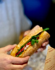 Le Delights Banh Mi & Pho in Cordova serves a traditional Vietnamese Banh Mi sandwich for just $7.95.  It makes a delicious, flavor-packed lunch.