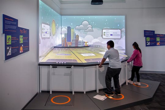 Kids can 'run' a virtual city by literally running in place.