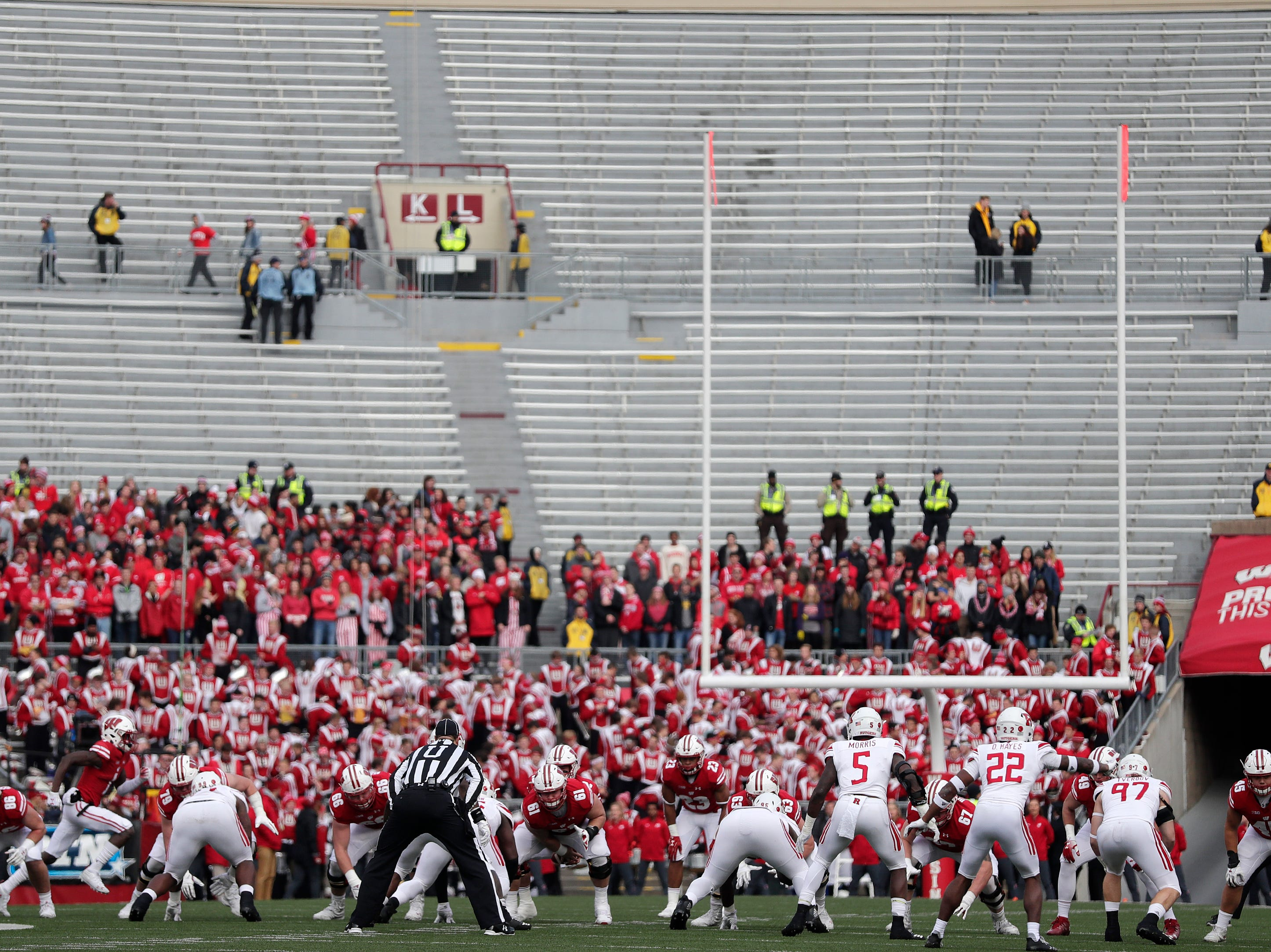 The Wisconsin Badgers play the Rutgers Scarlet Knights in a Big Ten football game at Camp Randall Stadium on Saturday, November 3, 2018 in Madison, Wis.Adam Wesley/USA TODAY NETWORK-Wisconsin