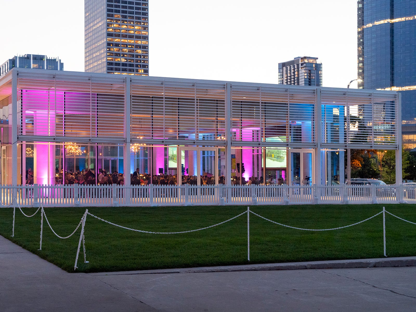 A pavilion was added to Discovery World as part of the renovation, which is being utilized for events as well as to expedite the many field trips that take place at the science museum.