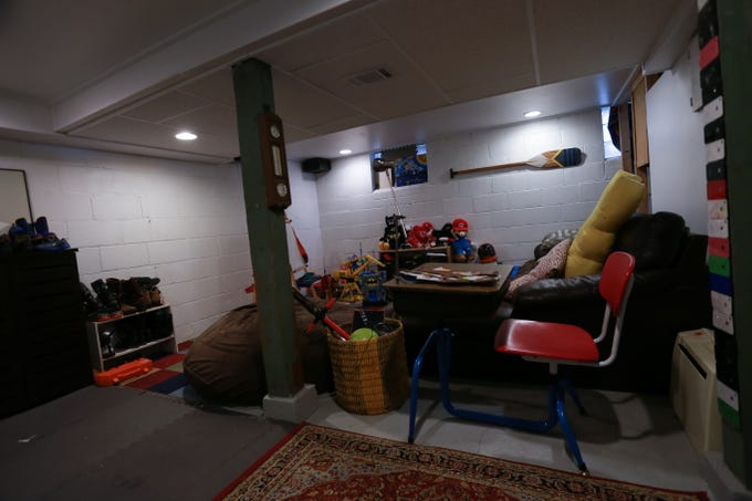 This is what the Ranada family's basement space looked like before it was remodeled as a result of winning the NML 'If it was up to my kid' contest.
