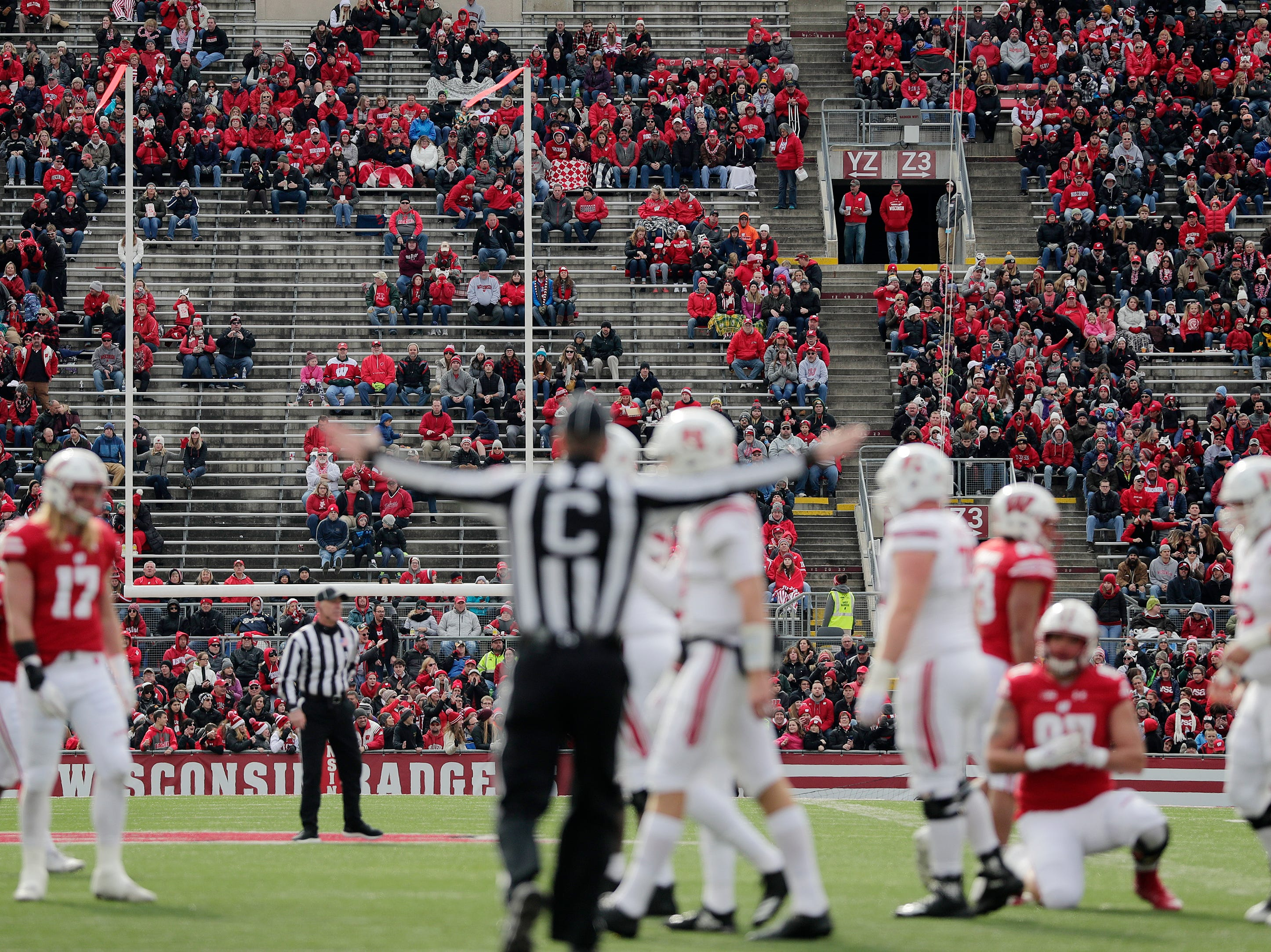 Fans watch the Wisconsin Badgers play the Rutgers Scarlet Knights in the second quarter of a Big Ten football game at Camp Randall Stadium on Saturday, November 3, 2018 in Madison, Wis.Adam Wesley/USA TODAY NETWORK-Wisconsin