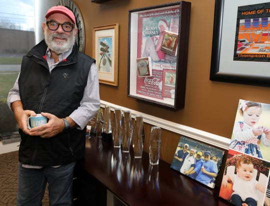 Something Inked co-owner David Schneiderman is photographed in his office at their production facility Friday, November 2, 2018.