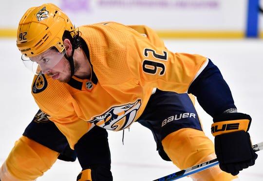 Predators center Ryan Johansen was suspended two games for high-sticking Winnipeg's  Mark Scheifele.