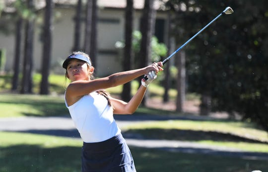 Estero senior Kim Egozi shot a two-day total of 158 to help lead her team to a fourth-place finish at the Class 2A state golf tournament at the Mission Inn & Resort in Howey-in-the-Hills on Saturday, Nov. 3, 2018.