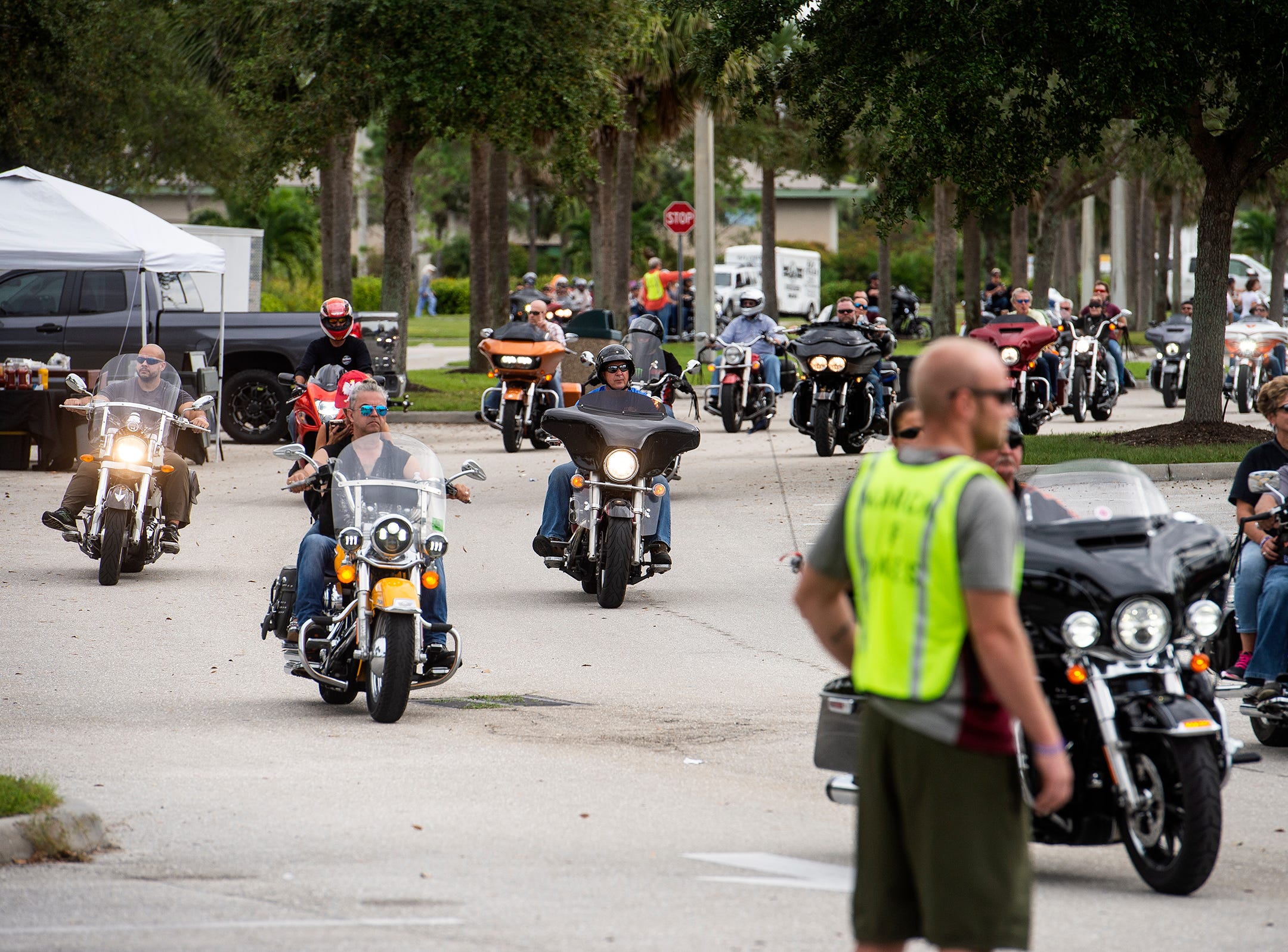 The Bikers for Babies fundraiser in Naples, Fla., on Sunday, Nov. 4, 2018, saw thousands of motorcyclists take to the streets of Southwest Florida to rally for the health of all moms and babies in one of the largest fundraisers for the March of Dimes.