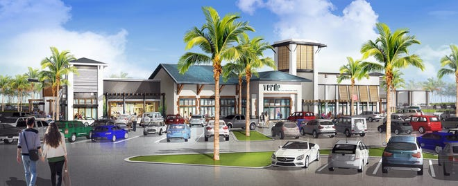 A rendering of The Point, a proposed collection of restaurants and shops for the southeast corner of Immokalee Road and Collier Boulevard.
