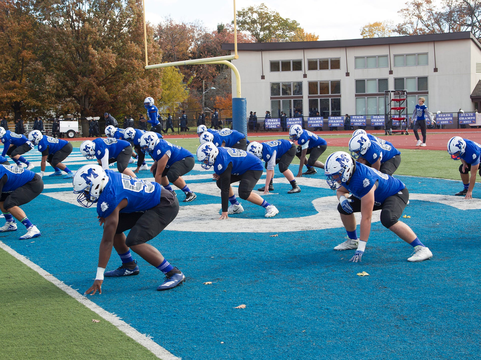 Montclair high School football game at Monclair. 10/03/2018