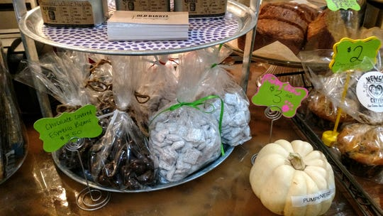 Moms Coffee sells a number of homemade baked goods.