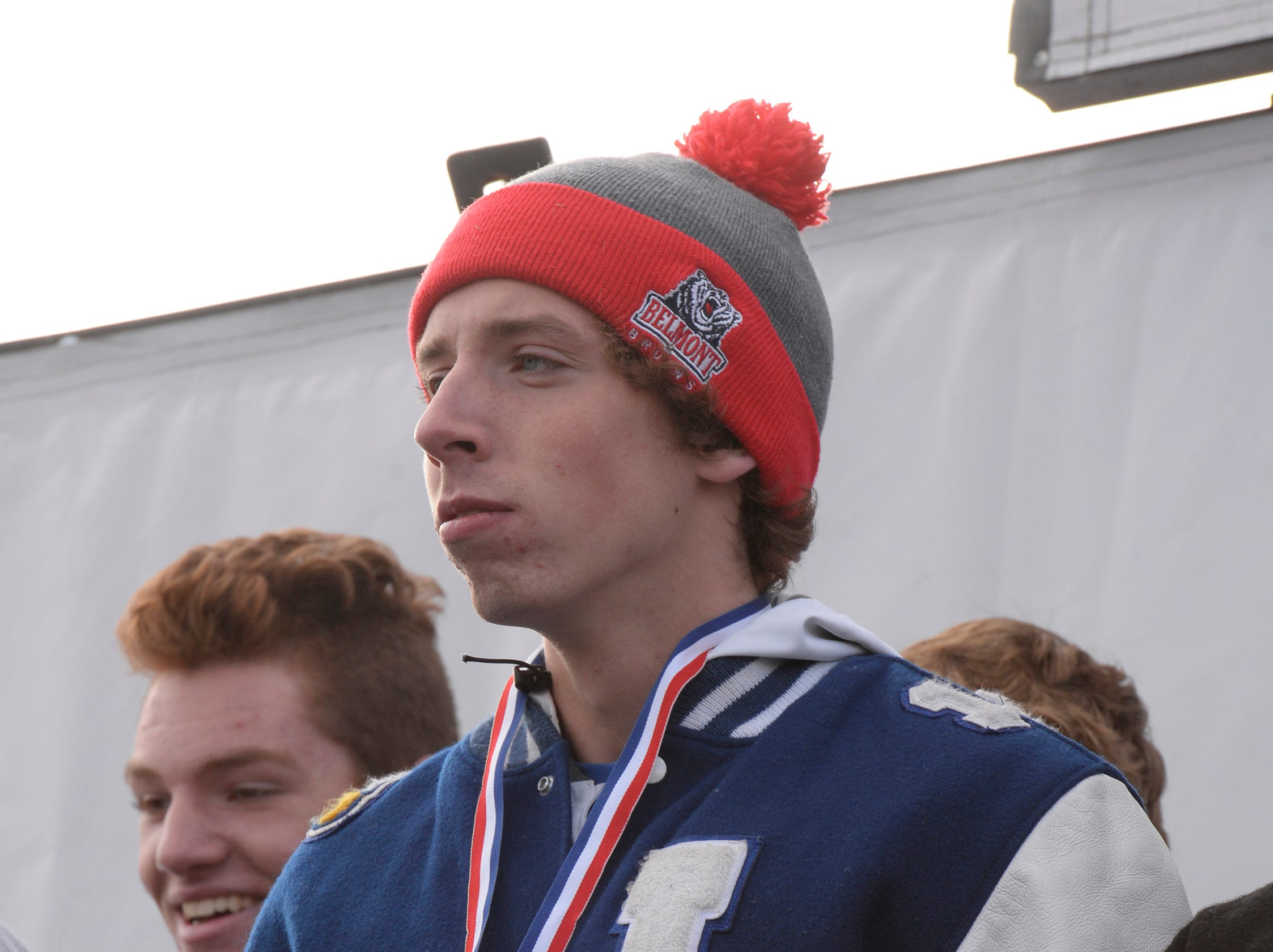 Lakeland's Harrison Grzymkowski finished third with a time of 15:32.3 at the Division 1 2018 cross country finals at Michigan International Speedway.