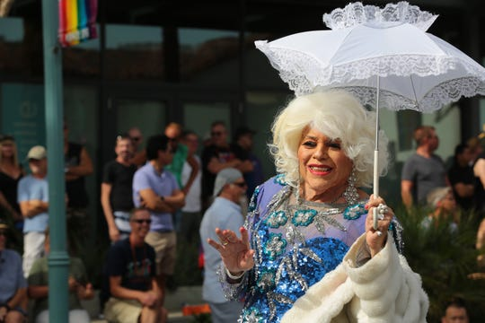 Thousands celebrate LGBTQ pride at the annual Palm Springs Pride Parade on Nov. 4, 2018.