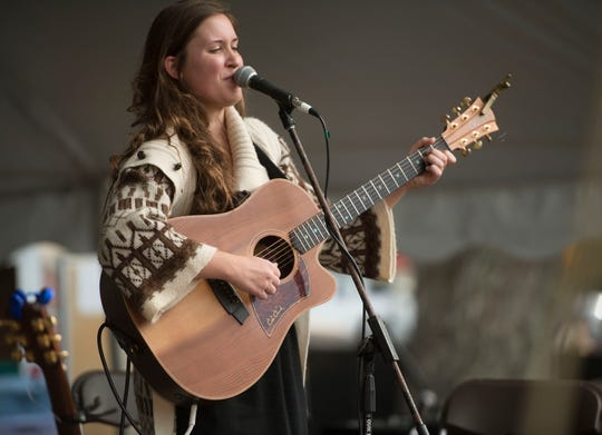 Tanya Gallagher performs during last year's Great Gulfcoast Arts Festival at Seville Square.