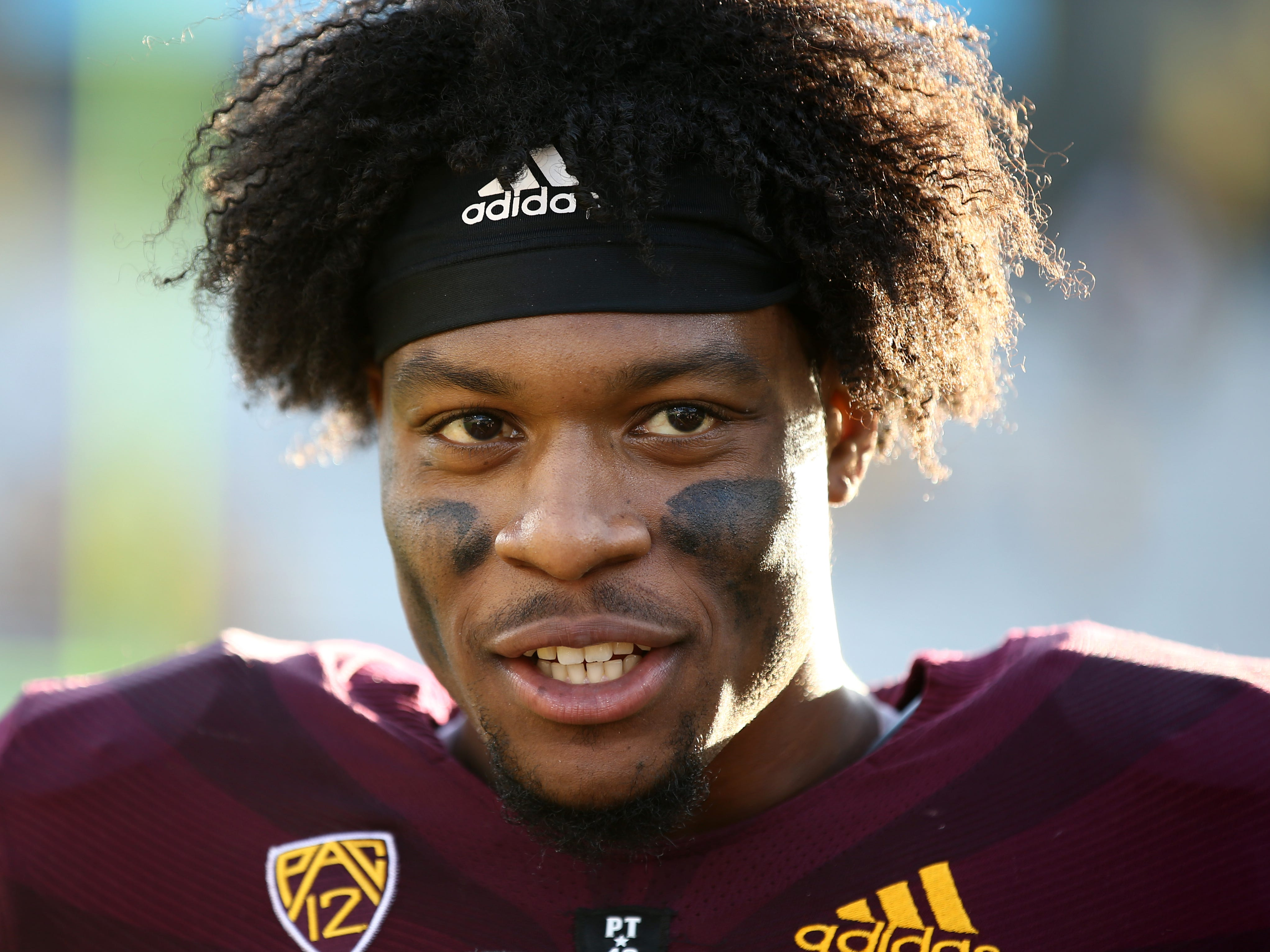Arizona State's N'Keal Harry during post game interview on Nov. 3 at Sun Devil Stadium.