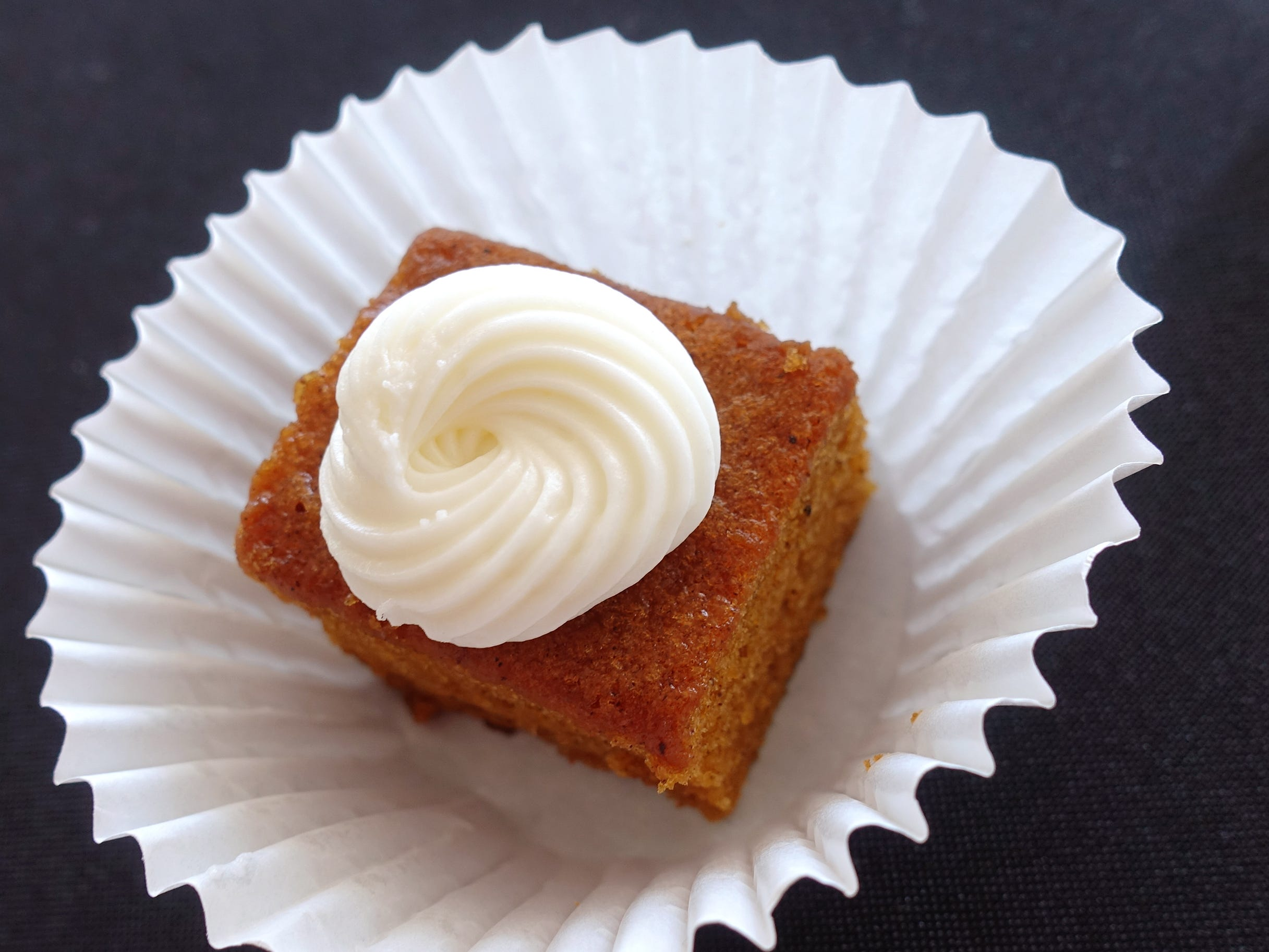 Pumpkin spice bundt cake with cream cheese frosting from Nothing Bundt Cakes at azcentral Wine & Food Experience 2018 at WestWorld of Scottsdale, Saturday, Nov. 3, 2018.