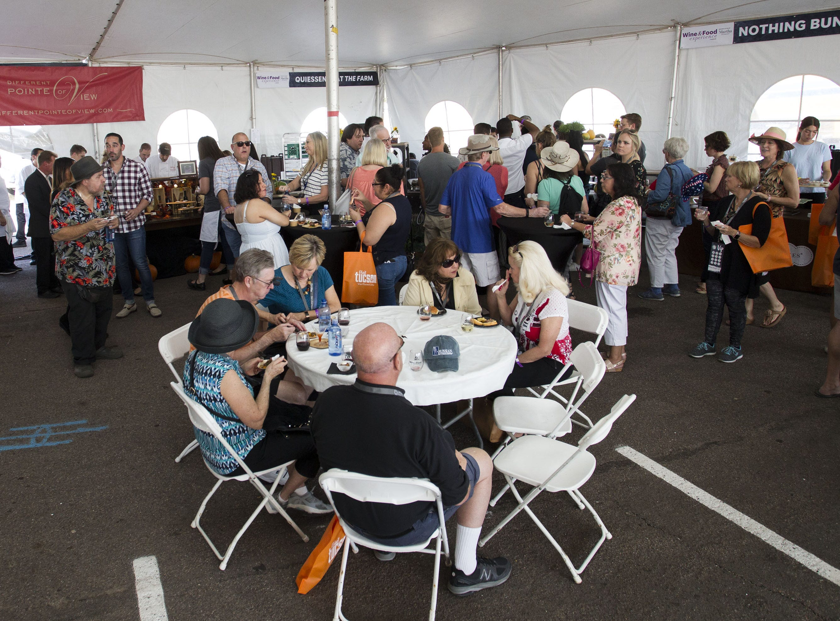Fans enjoy the festivities during the azcentral Wine & Food Experience at WestWorld of Scottsdale.Darryl Webb/Special for The Republic) #azwfe @azcentral #azcthingstodo
