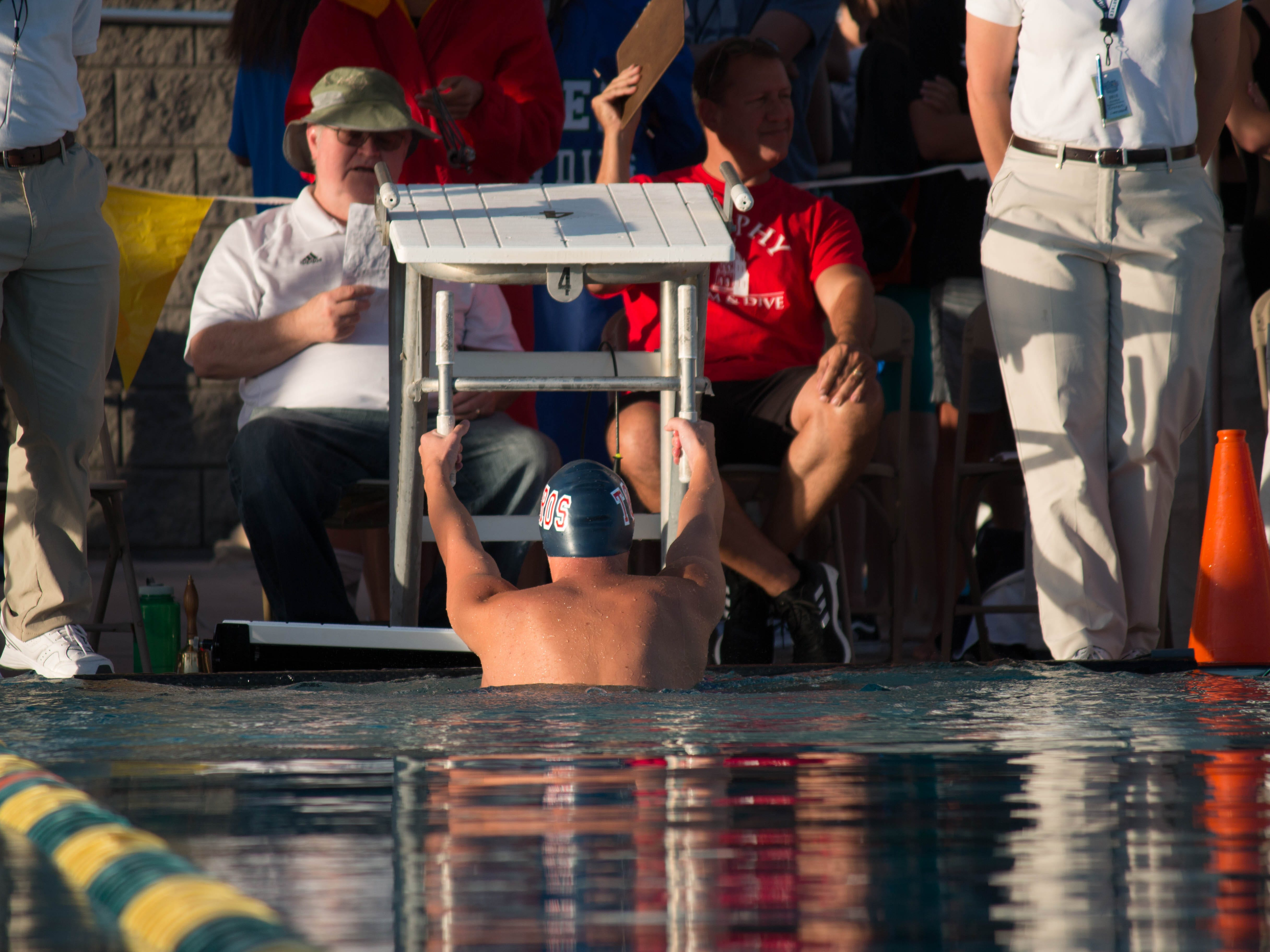 The Arizona State Division I Swimming Championships were held November 3, 2018. Carly Henry/azcentral