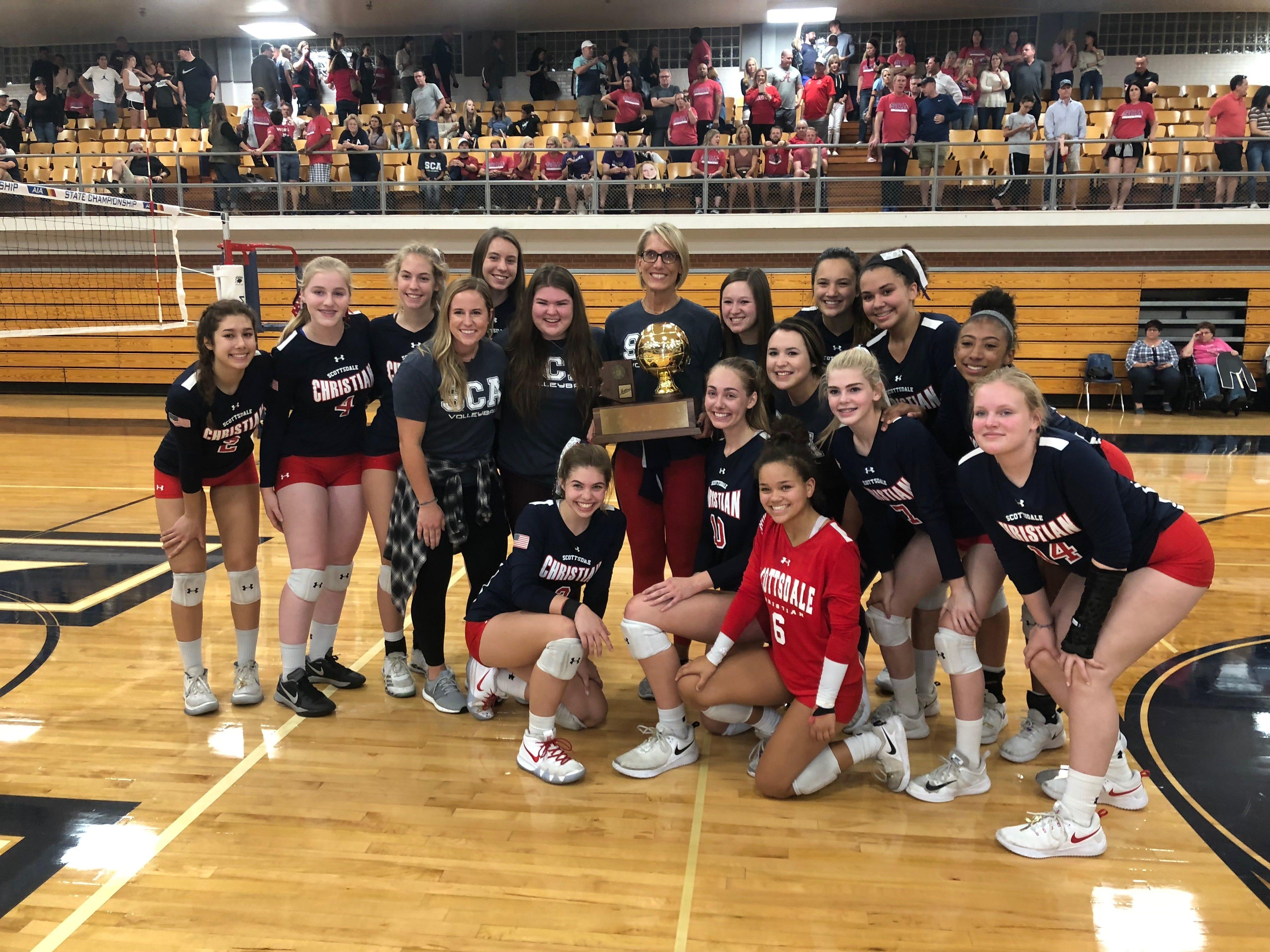 Scottsdale Christian celebrates state championship.