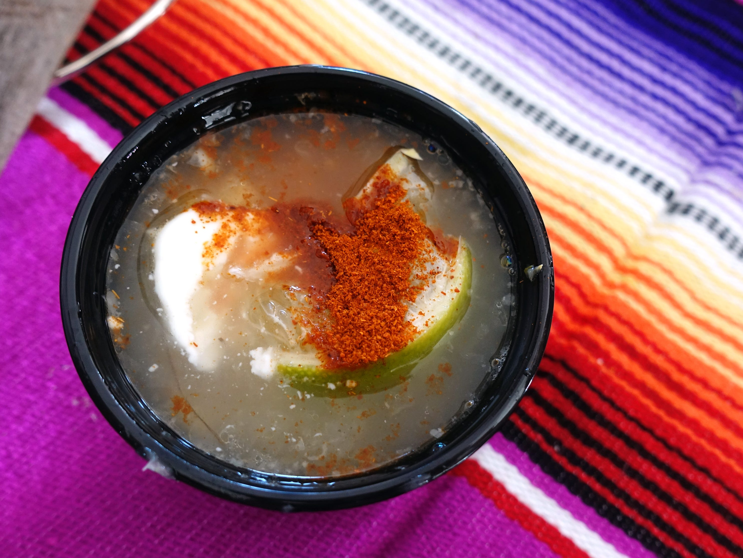 Esquites with pork broth, mayo, queso cotija, chimayo chile and lime from Taco Chelo at azcentral Wine & Food Experience 2018 at WestWorld of Scottsdale, Sunday, Nov. 4, 2018.