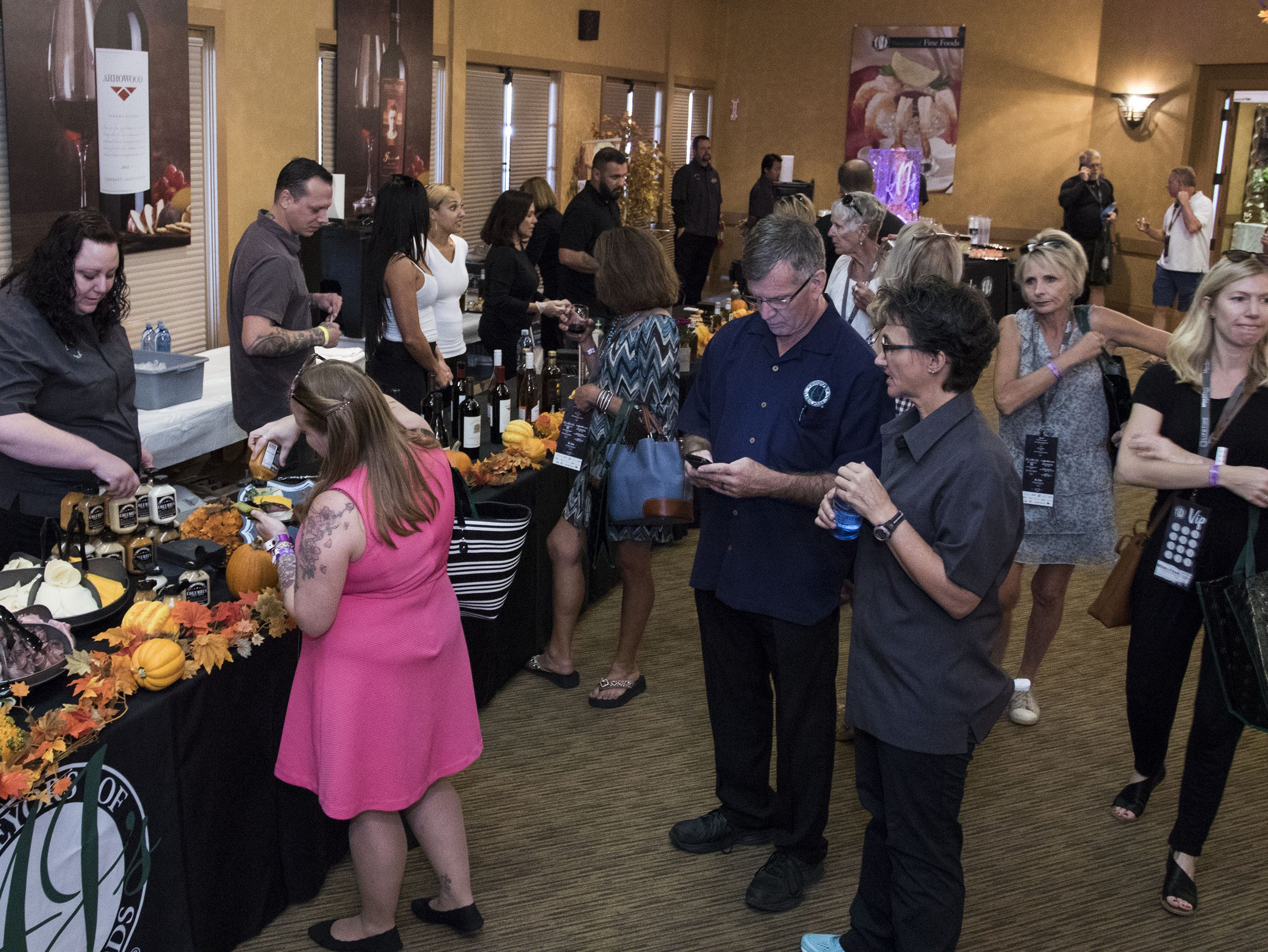 Guests experience the VIP treatment during the azcentral Wine & Food Experience at WestWorld of Scottsdale, Saturday, Nov. 3, 2018.