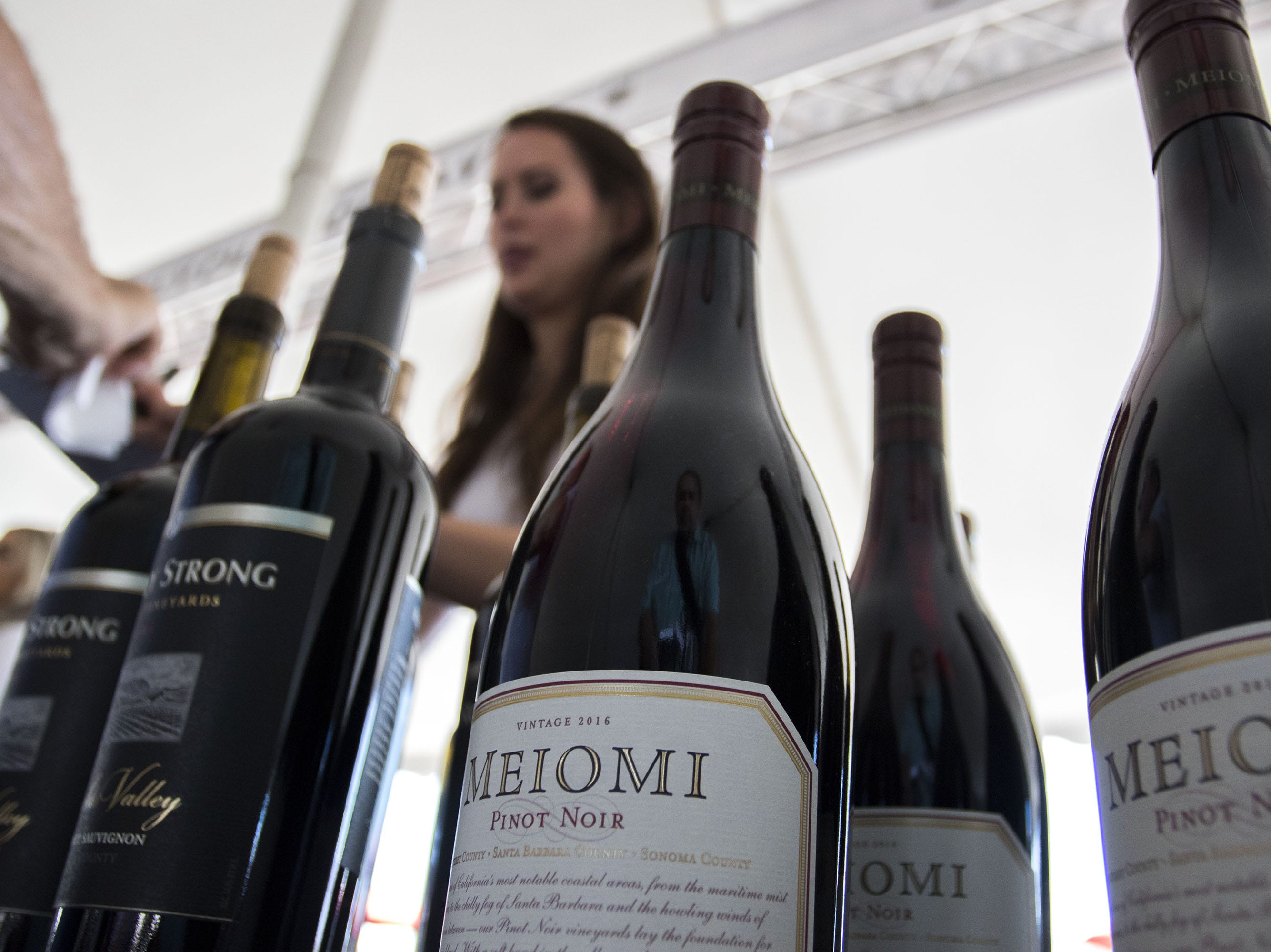 Wine bottles were everywhere during the azcentral Wine & Food Experience at WestWorld of Scottsdale, Saturday, Nov. 3, 2018.