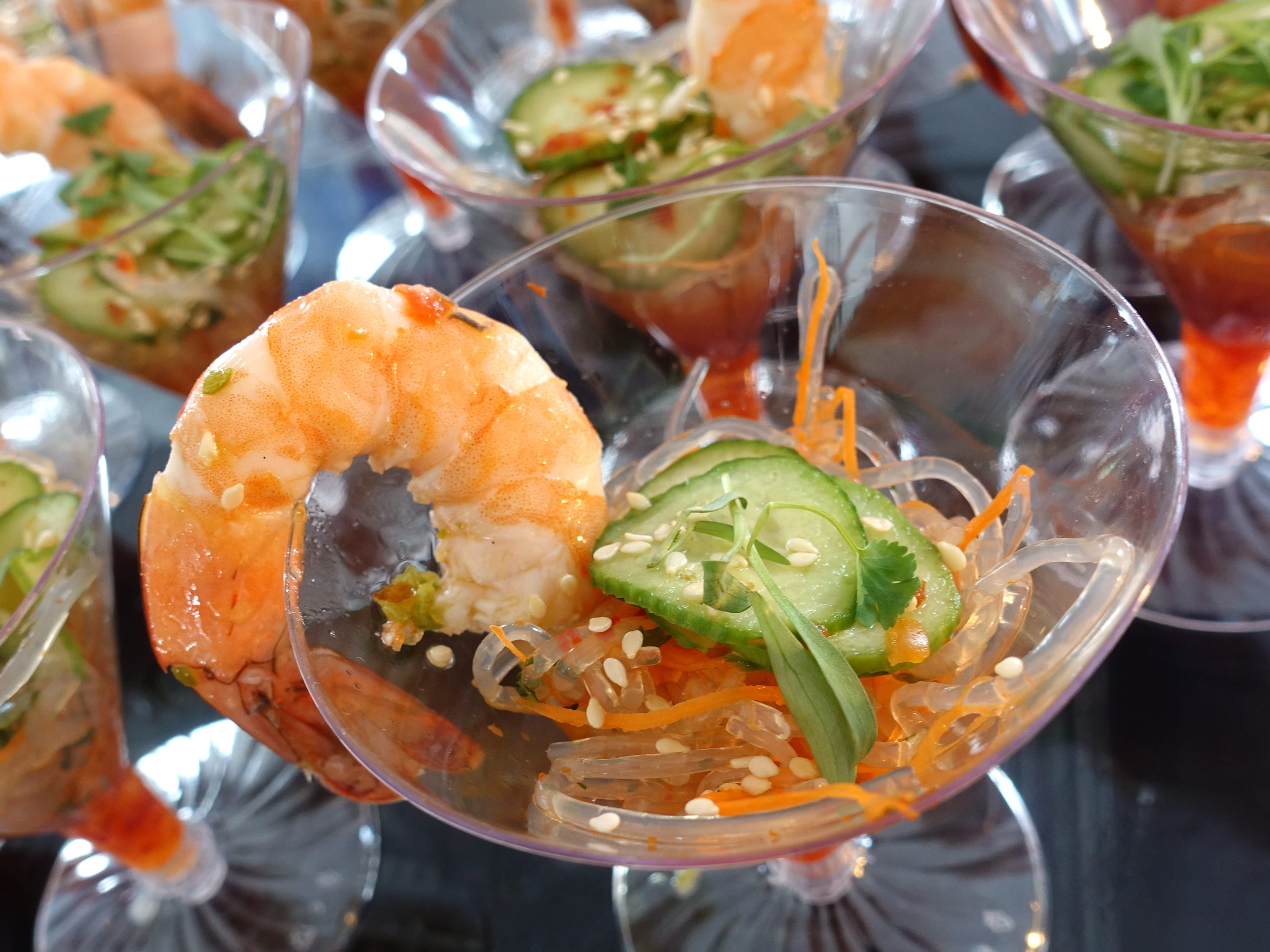 Wild shrimp ceviche with Persian cucumber and kelp noodle salad and chile yuzu vinaigrette from J&G Steakhouse at azcentral Wine & Food Experience 2018 at WestWorld of Scottsdale, Sunday, Nov. 4, 2018.