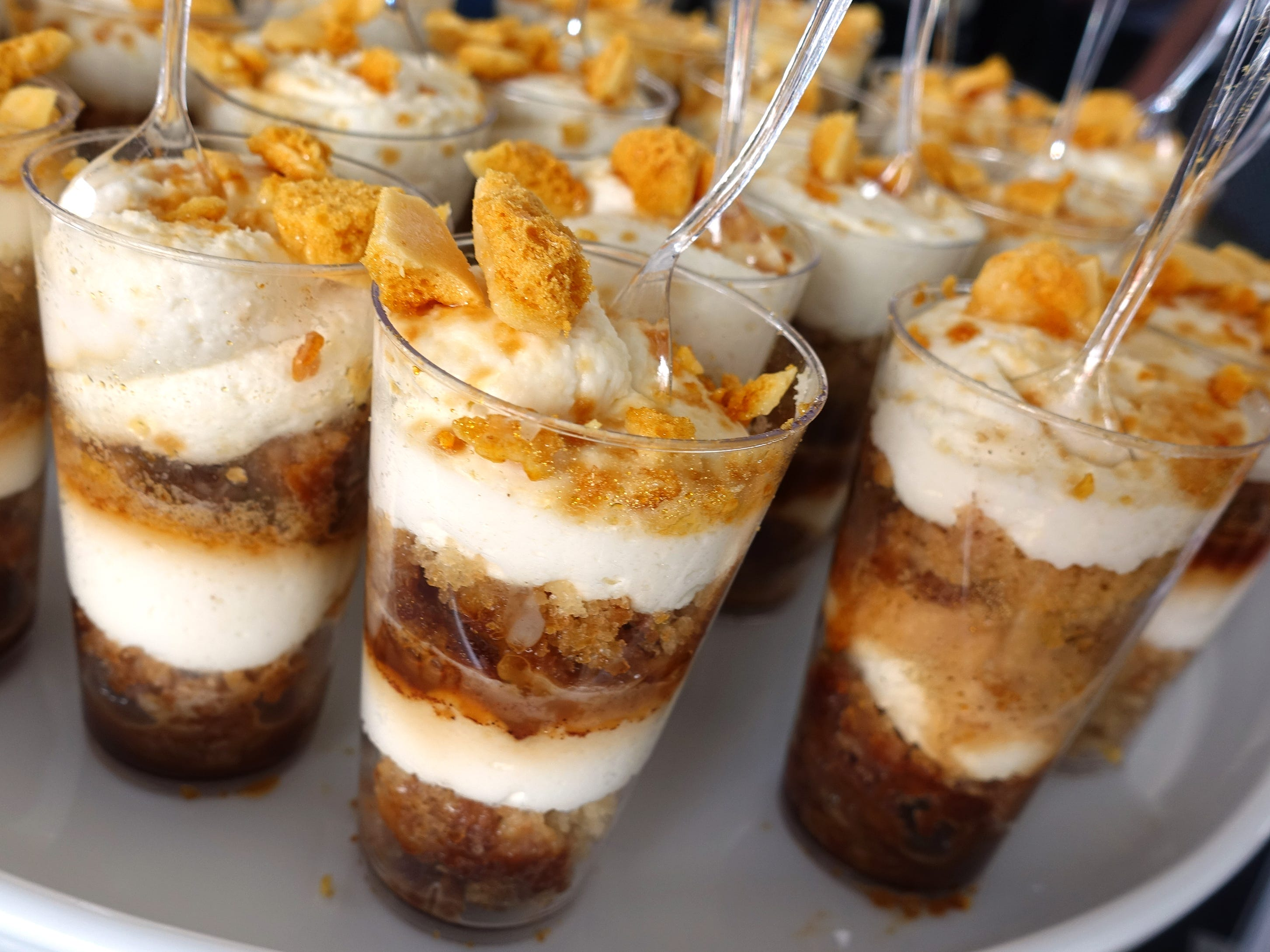 John & Yoko: honey cake with cinnamon tres leches, mascarpone whipped cream and honeycomb candy from Super Chunk Sweets & Treats at azcentral Wine & Food Experience 2018 at WestWorld of Scottsdale, Sunday, Nov. 4, 2018.