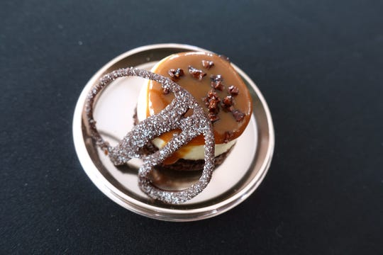 Chocoflan with cajeta caramel and salted cocoa nibs from Talevera at azcentral Wine & Food Experience 2018 at WestWorld of Scottsdale, Sunday, Nov. 4, 2018.