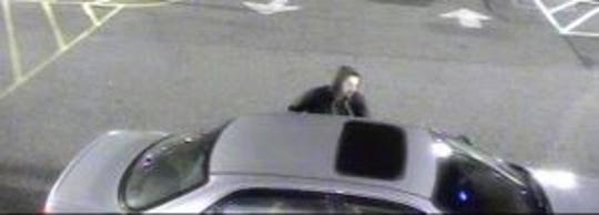 Springettsbury Township Police are looking for this getaway car -- and the man getting into it -- in connection with a recent theft at the Walmart.