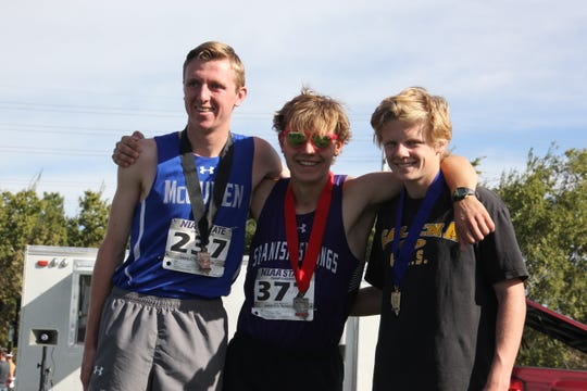 McQueen's Matthew Rice, Spanish Springs' Daniel Horner and Galena's Matthew Gordon.