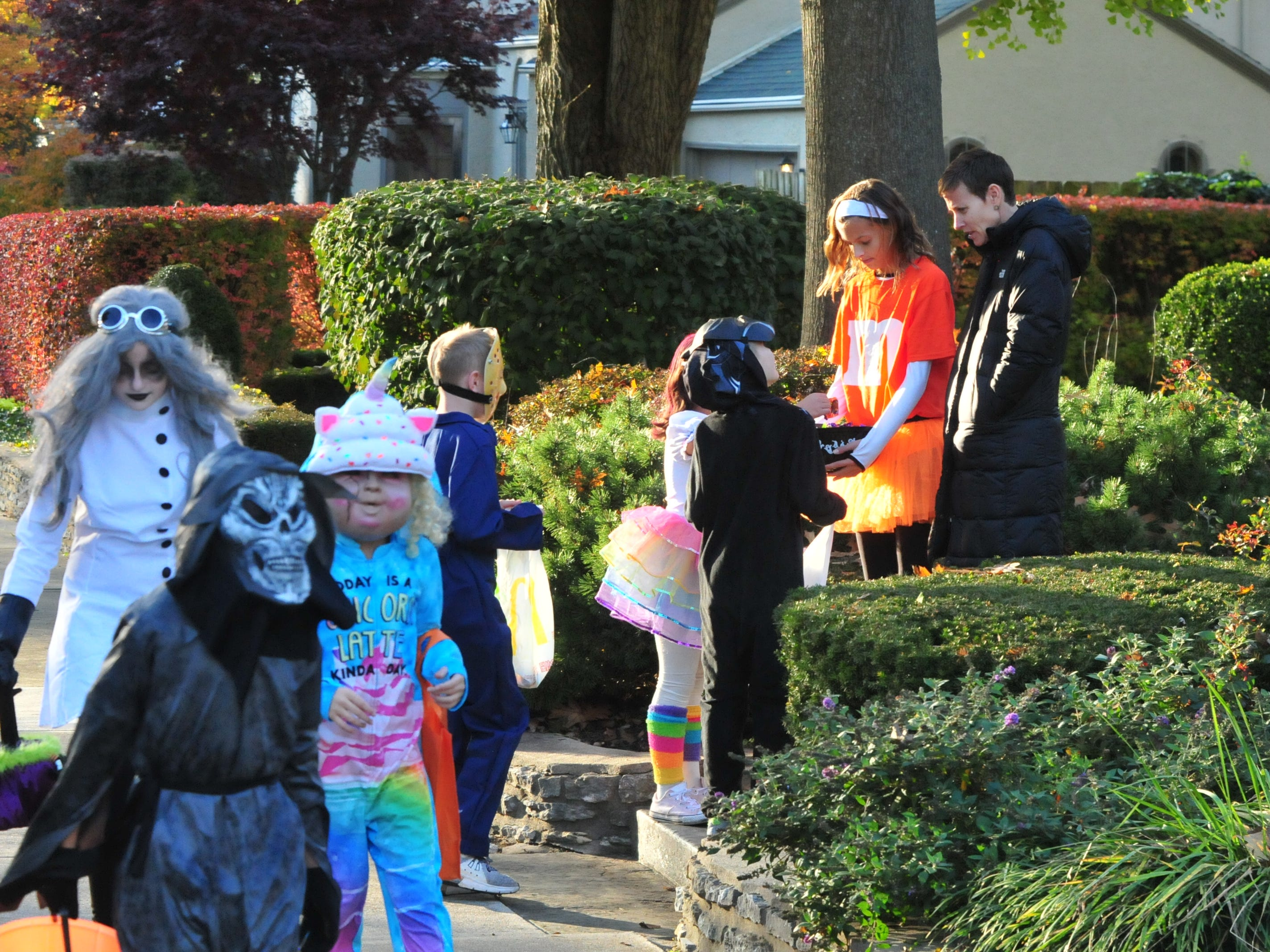 Children went trick-or-treating Saturday in Richmond after weather delayed the annual festivities for three days.