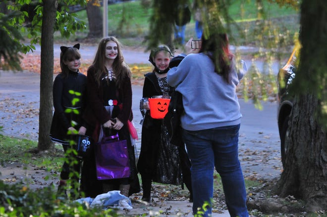 Children trick-or-treating in Richmond on a past Halloween.