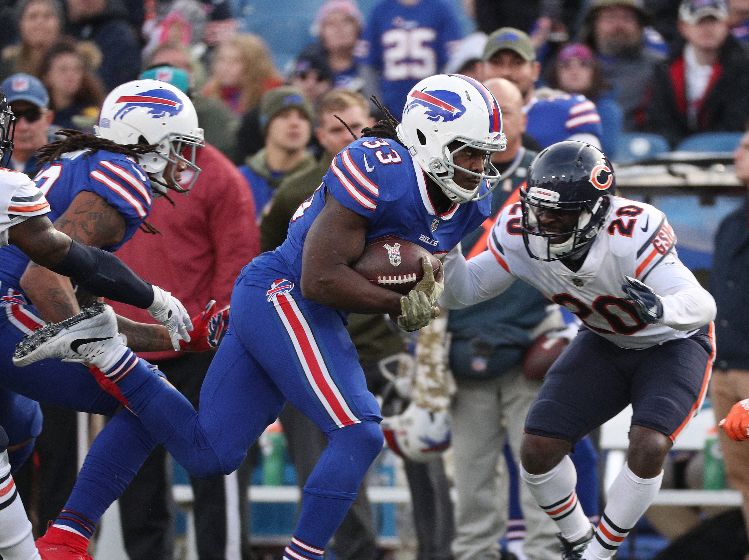 Bills running back Chris Ivory looks for running room.