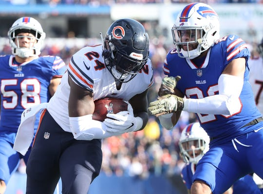 Jordan Howard rushes against the Bills last week.