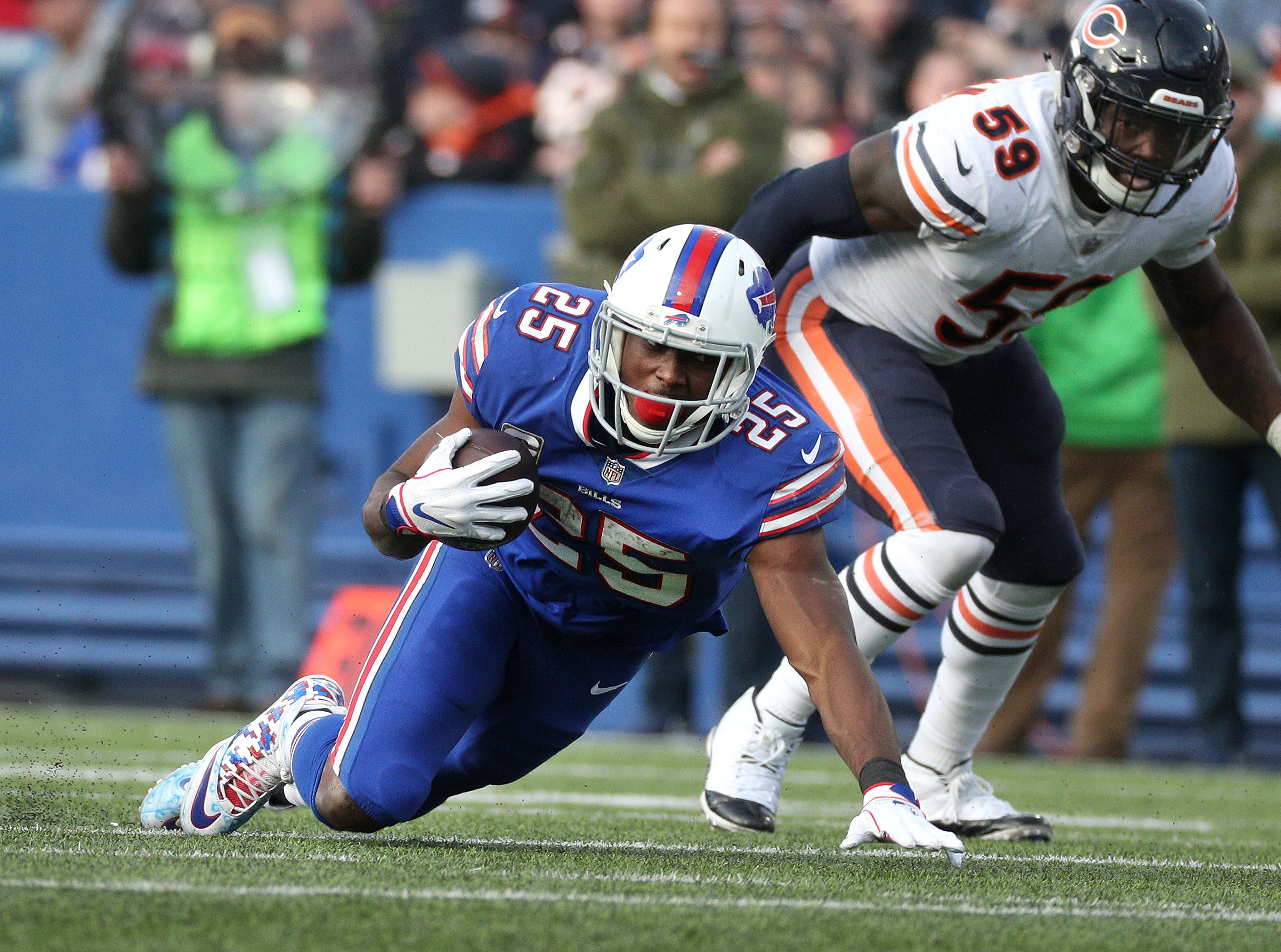 Bills running back was held to 10 yards on 10 carries against the Bears.