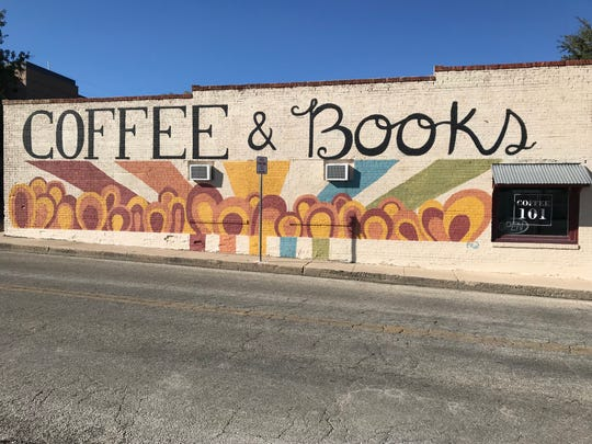 A mural by Angelo State University student Presley Rumsey adorns the side of Coffee 101 on Main Street in San Angelo on Sunday, Nov. 4, 2018.