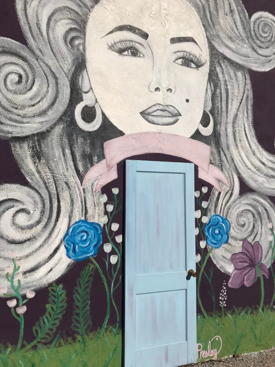 This Marilyn Monroe-inspired mural by Angelo State University student Presley Rumsey is shown on the side of Pure Salon & Boutique, 16 E. Concho Ave., in downtown San Angelo on Sunday, Nov. 4, 2018.