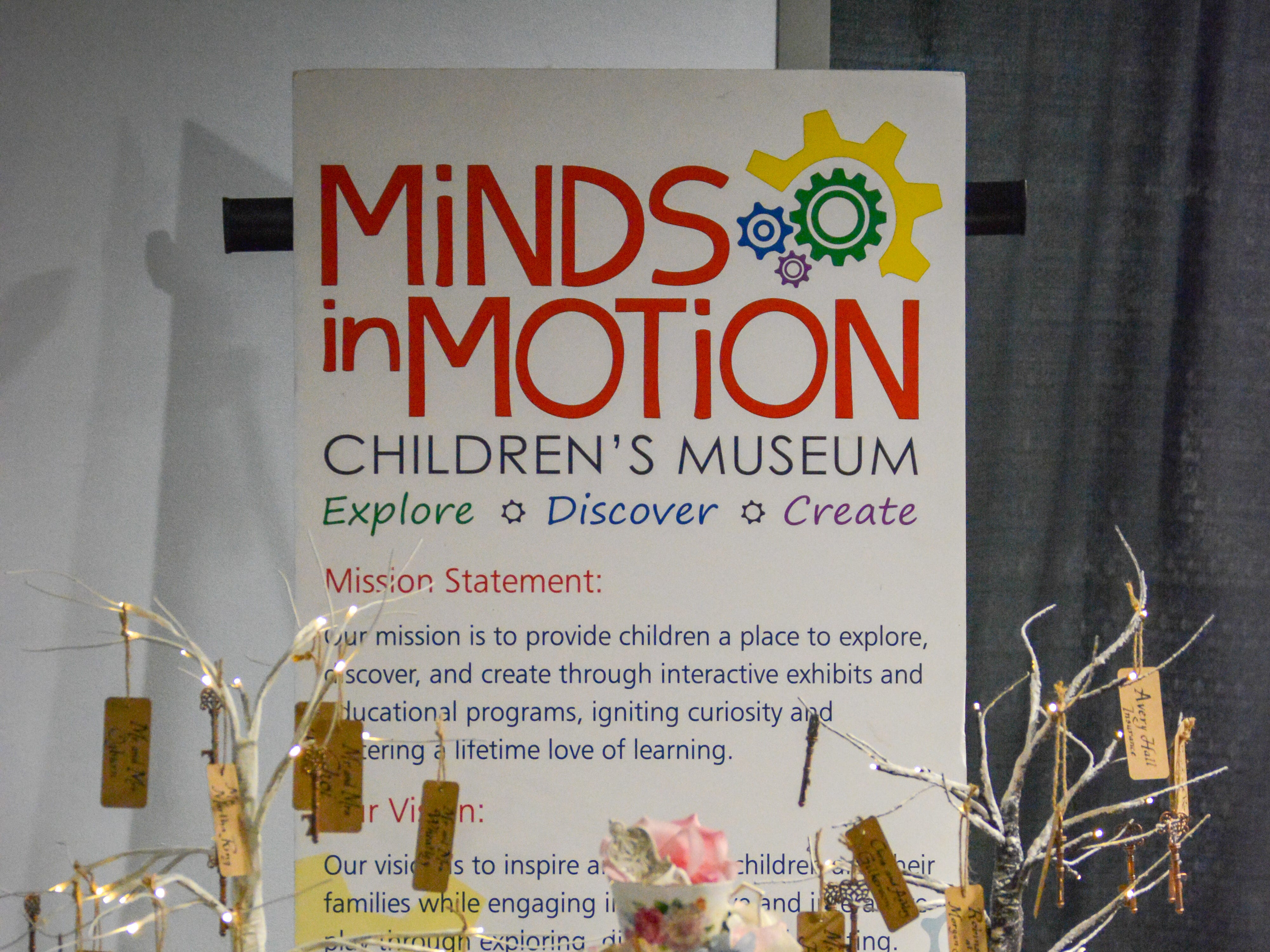 """Minds in Motion """"A Wonderland Adventure"""" Gala materials were displayed at The Wicomico Youth & Civic Center on Nov. 3, 2018 in Salisbury, Maryland."""