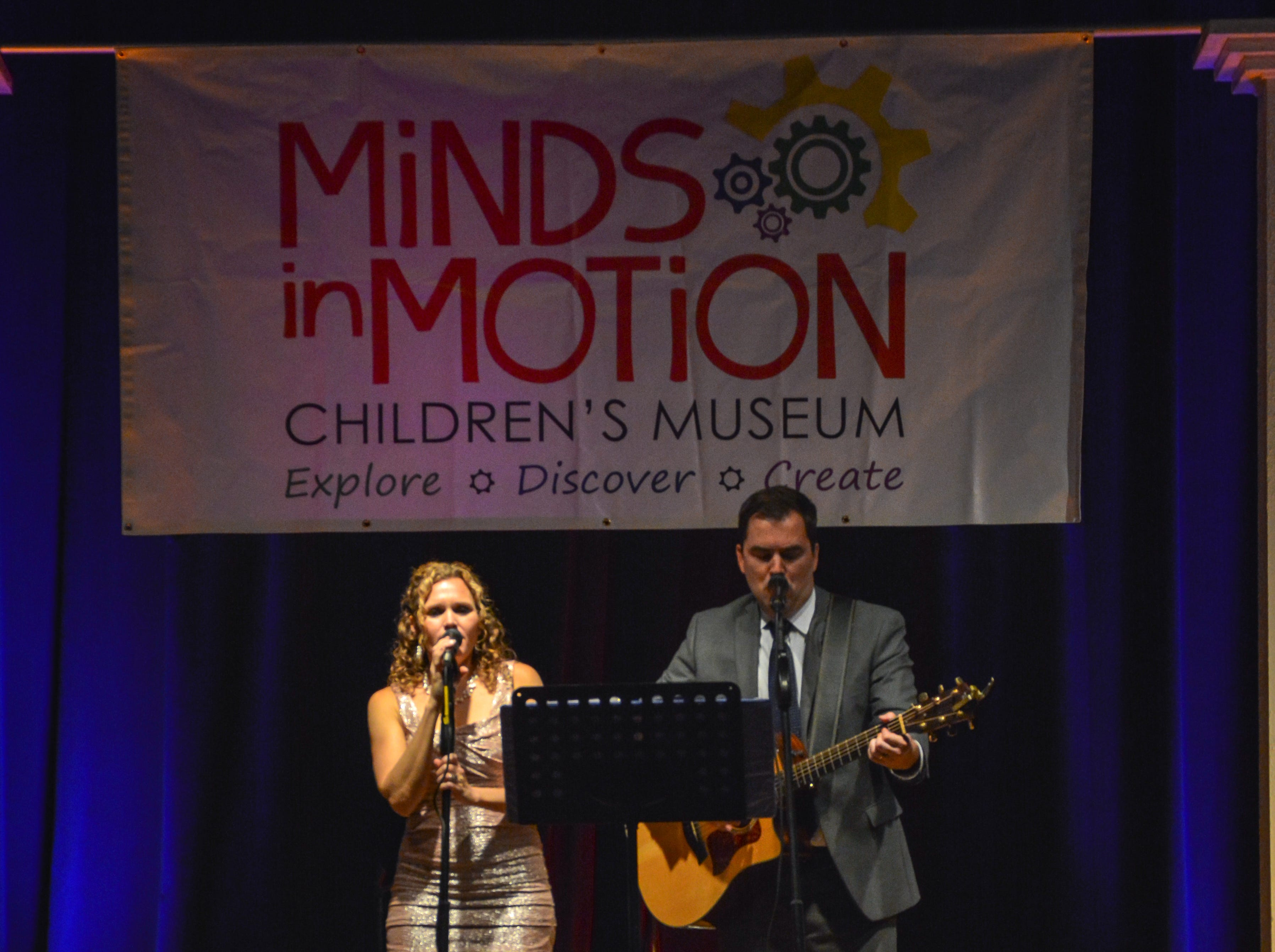 """""""Beauty by Ashes"""" provided live music at the Minds in Motion Museum """"A Wonderland Adventure"""" gala, on Nov. 3, 2018, at the Wicomico Youth & Civic Center in Salisbury, Maryland."""