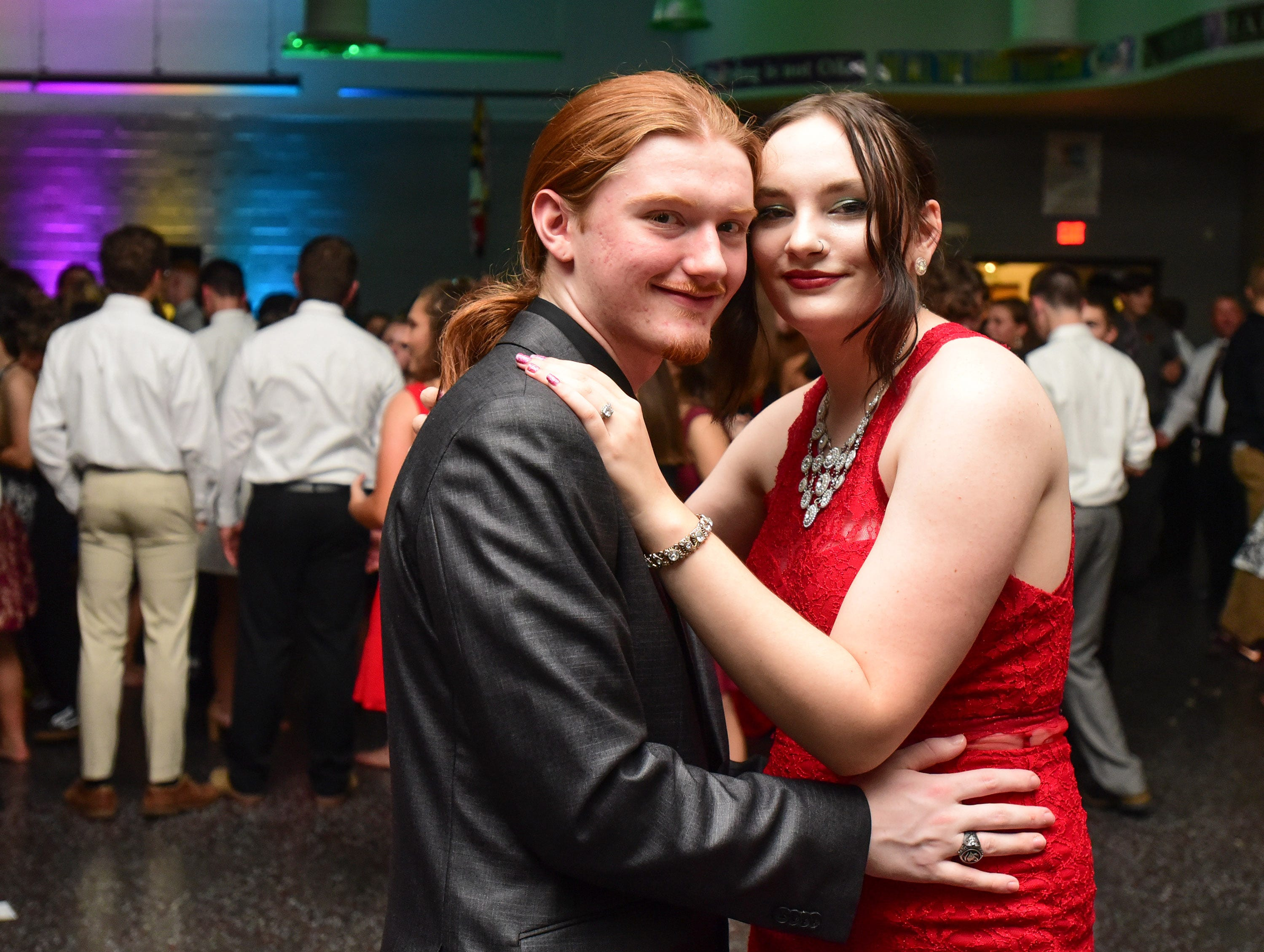Nick Weisenburg and Logan Hastings at James M. Bennett High School Homecoming Dance Saturday night at the school in Salisbury. 780 youth attended the annual dance.