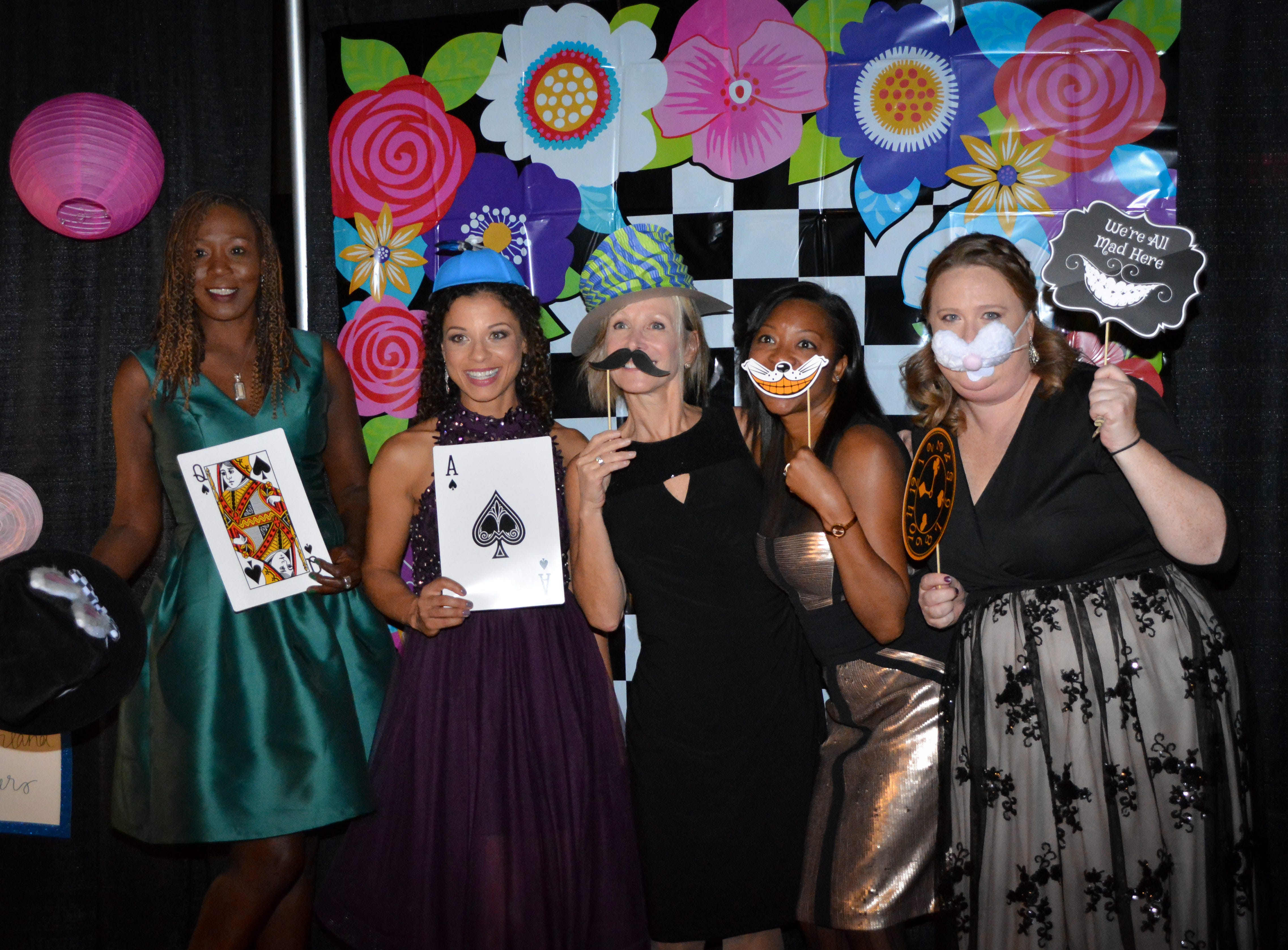 """Guests at the Minds in Motion Museum """"A Wonderland Adventure Gala"""" pose for a photo on Nov. 3, 2018 at the Wicomico Youth & Civic Center."""