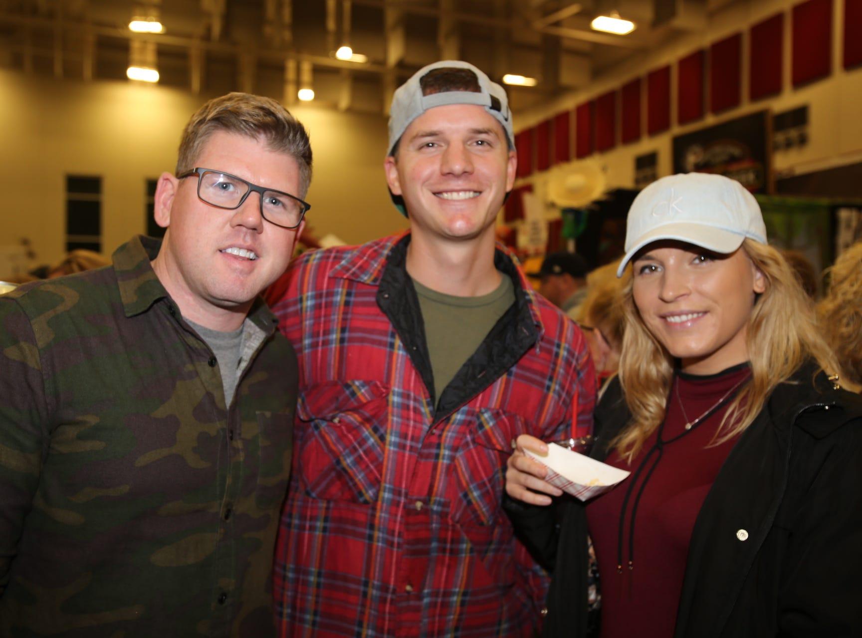 Derek Smith, Austin Jessen, and Cassie Highfill