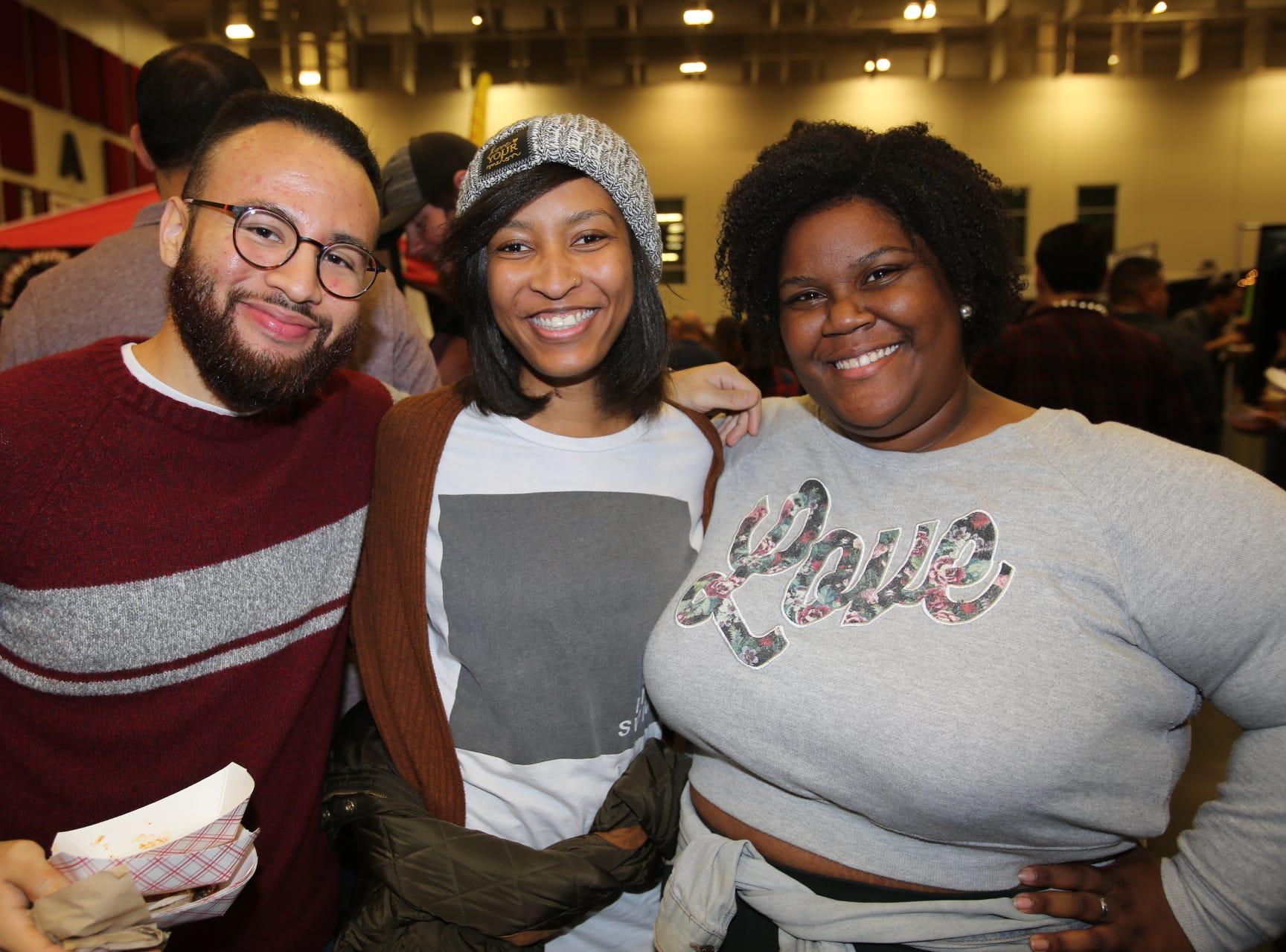 Chris Palma, Michaela Green, and Chelsey McPride