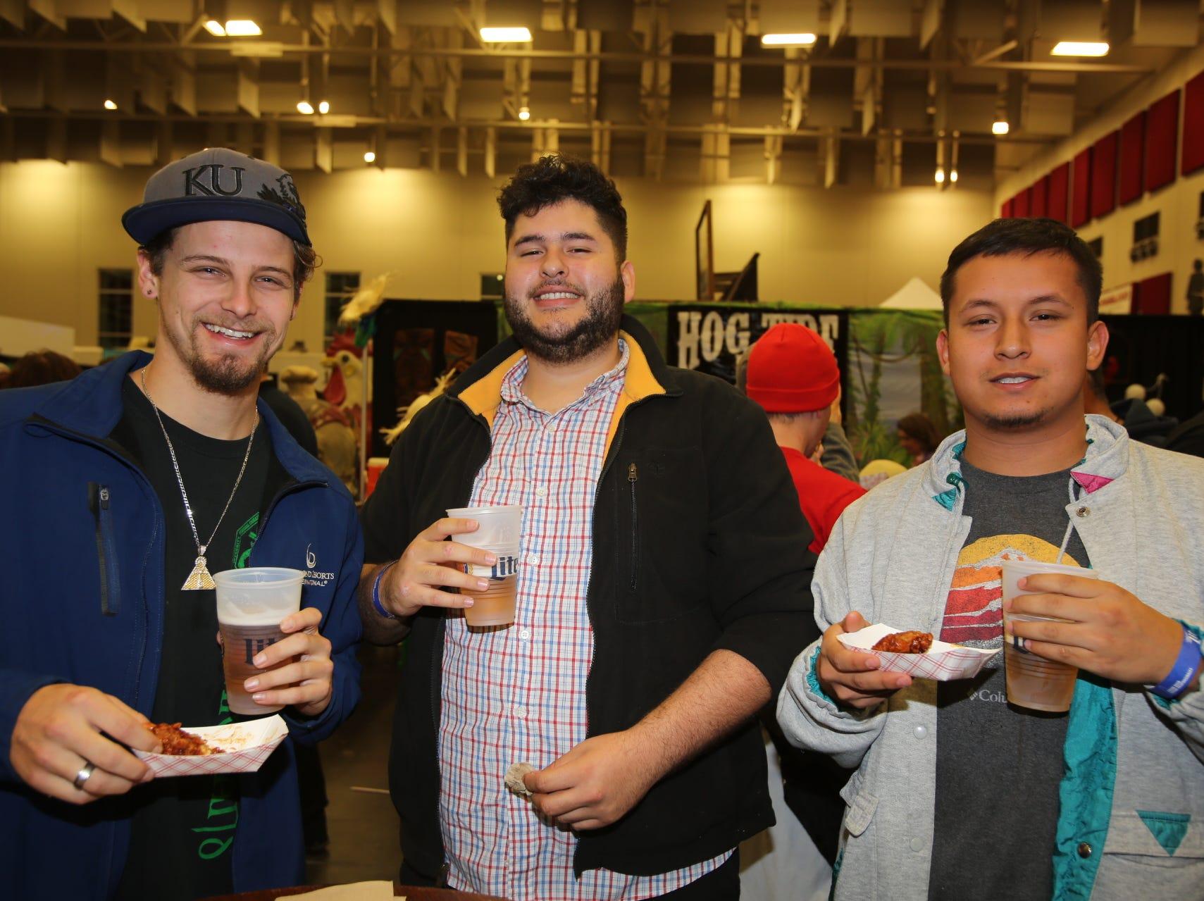 Dillon Mooney, Eli Serratos, and Bryan Hernanadez